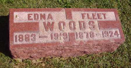 WOODS, EDNA - Meigs County, Ohio | EDNA WOODS - Ohio Gravestone Photos