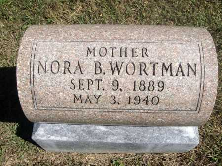 MORRIS WORTMAN, NORA - Meigs County, Ohio | NORA MORRIS WORTMAN - Ohio Gravestone Photos