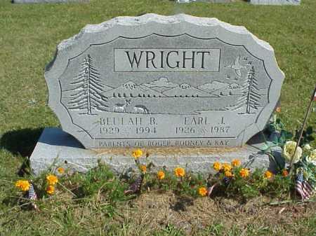 JORDAN WRIGHT, BEULAH B. [BELLE] - Meigs County, Ohio | BEULAH B. [BELLE] JORDAN WRIGHT - Ohio Gravestone Photos