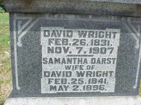 WRIGHT, DAVID - Meigs County, Ohio   DAVID WRIGHT - Ohio Gravestone Photos