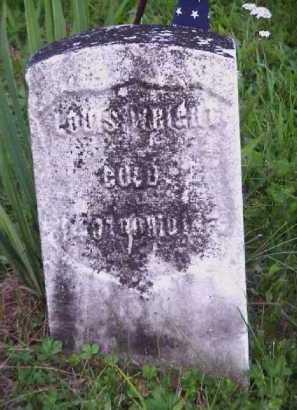 WRIGHT, LOUIS - Meigs County, Ohio   LOUIS WRIGHT - Ohio Gravestone Photos