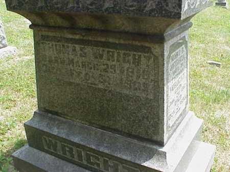 WRIGHT, THOMAS - Meigs County, Ohio | THOMAS WRIGHT - Ohio Gravestone Photos