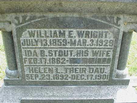 WRIGHT, WILLIAM E. - Meigs County, Ohio | WILLIAM E. WRIGHT - Ohio Gravestone Photos