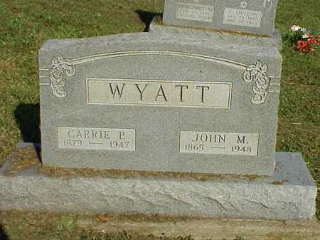WYATT, JOHN M. - Meigs County, Ohio | JOHN M. WYATT - Ohio Gravestone Photos