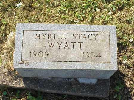 WYATT, MYRTLE STACY - Meigs County, Ohio   MYRTLE STACY WYATT - Ohio Gravestone Photos
