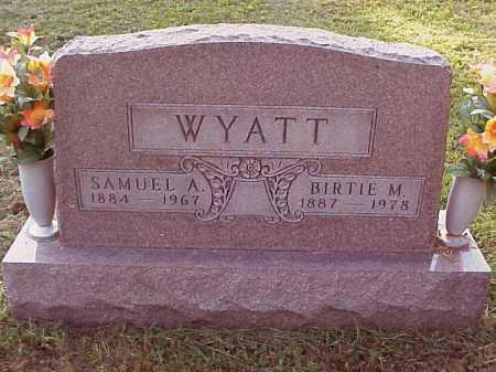 WYATT, SAMUEL A. - Meigs County, Ohio | SAMUEL A. WYATT - Ohio Gravestone Photos
