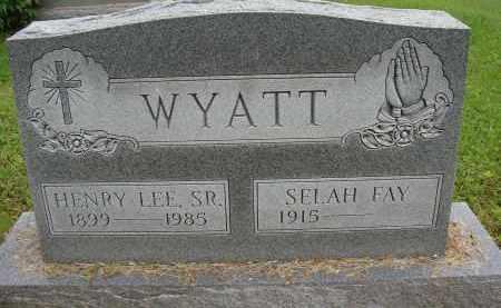 WYATT, SELAH FAY - Meigs County, Ohio | SELAH FAY WYATT - Ohio Gravestone Photos