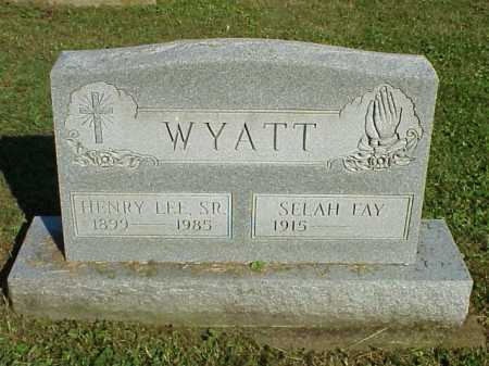 WYATT,SR., HENRY LEE - Meigs County, Ohio | HENRY LEE WYATT,SR. - Ohio Gravestone Photos