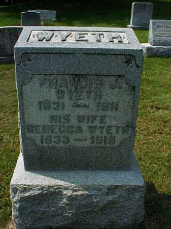 WYETH, REBECCA - Meigs County, Ohio | REBECCA WYETH - Ohio Gravestone Photos
