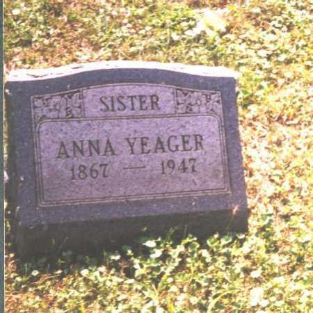 YEAGER, ANNA - Meigs County, Ohio | ANNA YEAGER - Ohio Gravestone Photos