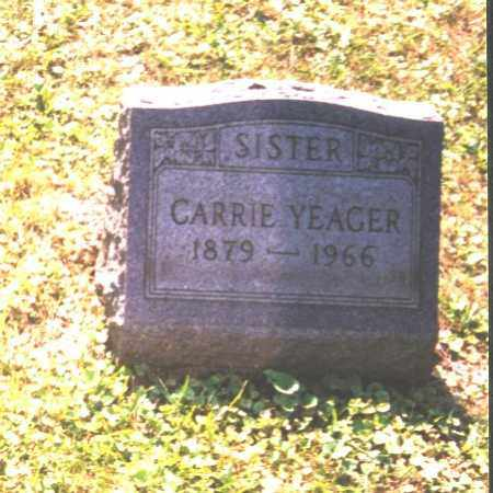 YEAGER, CARRIE - Meigs County, Ohio | CARRIE YEAGER - Ohio Gravestone Photos