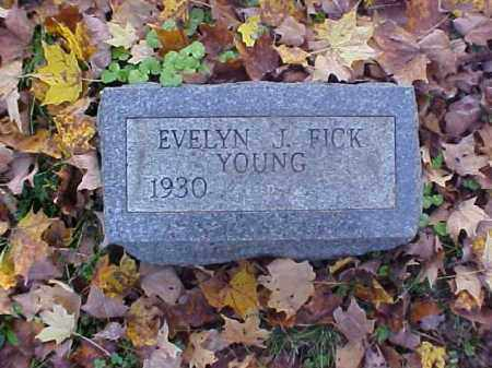 FICK YOUNG, EVELYN J. - Meigs County, Ohio | EVELYN J. FICK YOUNG - Ohio Gravestone Photos