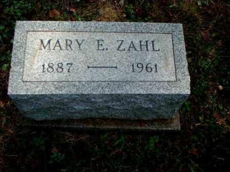 ZAHL, MARY E. - Meigs County, Ohio | MARY E. ZAHL - Ohio Gravestone Photos