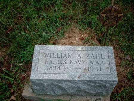 ZAHL, WILLIAM A. - Meigs County, Ohio   WILLIAM A. ZAHL - Ohio Gravestone Photos