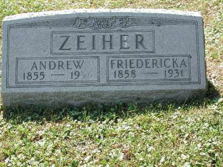 ZEIHER, ANDREW - Meigs County, Ohio | ANDREW ZEIHER - Ohio Gravestone Photos