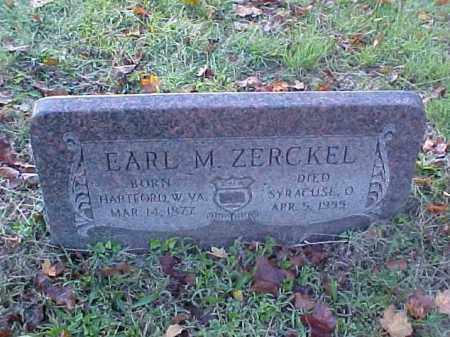 ZERCKEL, EARL M. - Meigs County, Ohio | EARL M. ZERCKEL - Ohio Gravestone Photos
