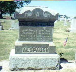 ALSPAUGH, JONATHAN - Mercer County, Ohio | JONATHAN ALSPAUGH - Ohio Gravestone Photos