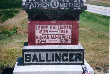 BALLINGER, LEWIS - Mercer County, Ohio | LEWIS BALLINGER - Ohio Gravestone Photos