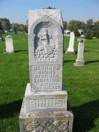 BRUNS, BERNARD - Mercer County, Ohio   BERNARD BRUNS - Ohio Gravestone Photos