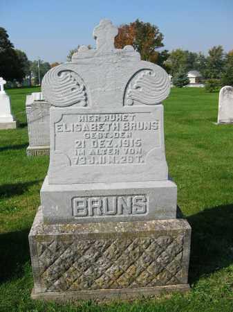 BRUNS, ELISABETH - Mercer County, Ohio | ELISABETH BRUNS - Ohio Gravestone Photos