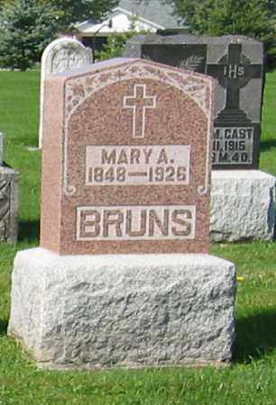 BRUNS, MARY A. - Mercer County, Ohio | MARY A. BRUNS - Ohio Gravestone Photos