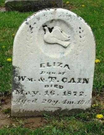 CAIN, ELIZA - Mercer County, Ohio | ELIZA CAIN - Ohio Gravestone Photos