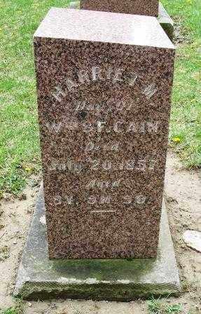 CAIN, HARRIET M. - Mercer County, Ohio | HARRIET M. CAIN - Ohio Gravestone Photos
