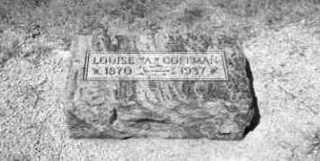 COFFMAN, LOUISE - Mercer County, Ohio | LOUISE COFFMAN - Ohio Gravestone Photos