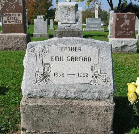 GARMAN, EMIL - Mercer County, Ohio | EMIL GARMAN - Ohio Gravestone Photos