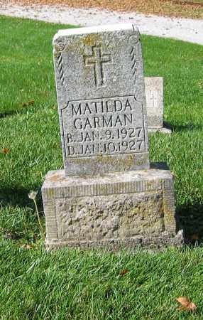 GARMAN, MATILDA - Mercer County, Ohio | MATILDA GARMAN - Ohio Gravestone Photos