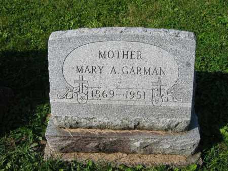 GARMAN, MARY A. - Mercer County, Ohio | MARY A. GARMAN - Ohio Gravestone Photos