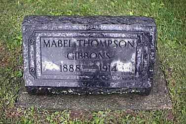 THOMPSON GIBBONS, EDNA MABEL - Mercer County, Ohio   EDNA MABEL THOMPSON GIBBONS - Ohio Gravestone Photos
