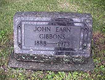 GIBBONS, JOHN ERNEST - Mercer County, Ohio | JOHN ERNEST GIBBONS - Ohio Gravestone Photos