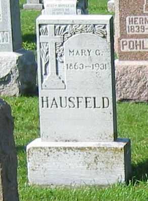 HAUSFELD, MARY G. - Mercer County, Ohio | MARY G. HAUSFELD - Ohio Gravestone Photos