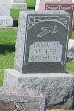 KELLER, ANNA M. - Mercer County, Ohio | ANNA M. KELLER - Ohio Gravestone Photos
