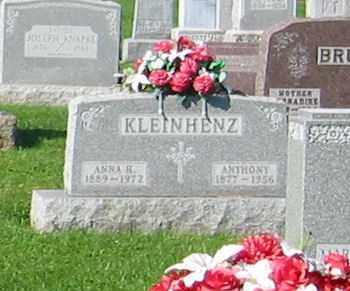 KLEINHENZ, ANTHONY - Mercer County, Ohio   ANTHONY KLEINHENZ - Ohio Gravestone Photos