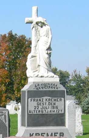 KREMER, FRANZ - Mercer County, Ohio   FRANZ KREMER - Ohio Gravestone Photos