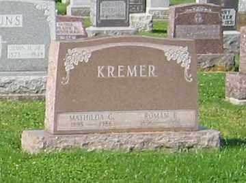KREMER, ROMAN E - Mercer County, Ohio | ROMAN E KREMER - Ohio Gravestone Photos