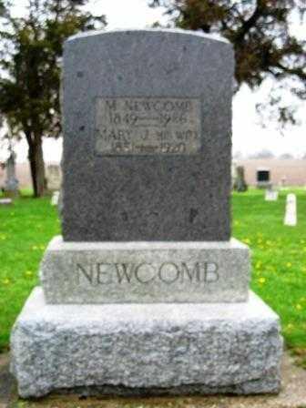 NEWCOMB, MARY JANE - Mercer County, Ohio | MARY JANE NEWCOMB - Ohio Gravestone Photos