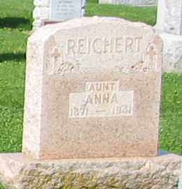 REICHERT, ANNA - Mercer County, Ohio | ANNA REICHERT - Ohio Gravestone Photos