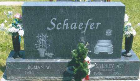 SIEFRING SCHAEFER, SHIRLEY A. - Mercer County, Ohio | SHIRLEY A. SIEFRING SCHAEFER - Ohio Gravestone Photos