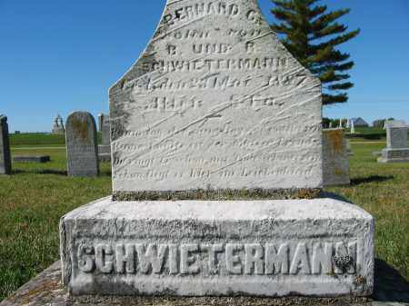 SCHWIETERMANN, BERNHARD C. - Mercer County, Ohio | BERNHARD C. SCHWIETERMANN - Ohio Gravestone Photos