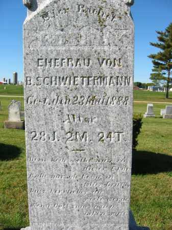 SCHWIETERMANN, B. - Mercer County, Ohio | B. SCHWIETERMANN - Ohio Gravestone Photos