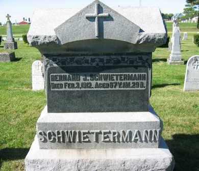 SCHWIETERMANN, BERNARD J. - Mercer County, Ohio | BERNARD J. SCHWIETERMANN - Ohio Gravestone Photos