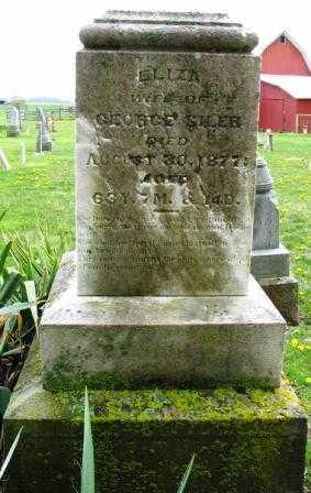 SILER, ELIZA - Mercer County, Ohio | ELIZA SILER - Ohio Gravestone Photos