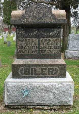 SILER, MARY E - Mercer County, Ohio | MARY E SILER - Ohio Gravestone Photos