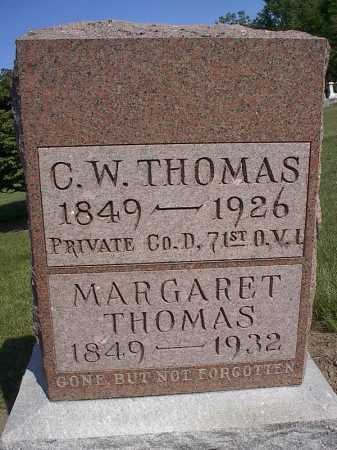 SNAVELY THOMAS, MARGARET - Mercer County, Ohio | MARGARET SNAVELY THOMAS - Ohio Gravestone Photos