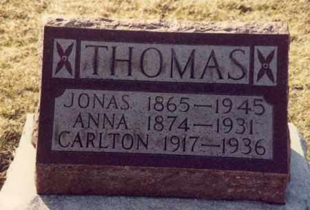 THOMAS, JONAS - Mercer County, Ohio | JONAS THOMAS - Ohio Gravestone Photos