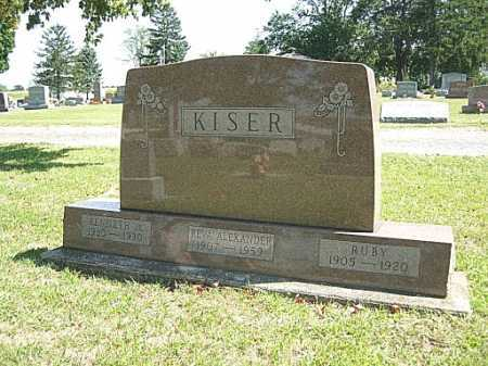 KISER, RUBY - Miami County, Ohio | RUBY KISER - Ohio Gravestone Photos
