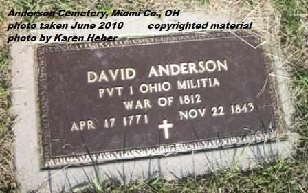 ANDERSON, DAVID - Miami County, Ohio | DAVID ANDERSON - Ohio Gravestone Photos